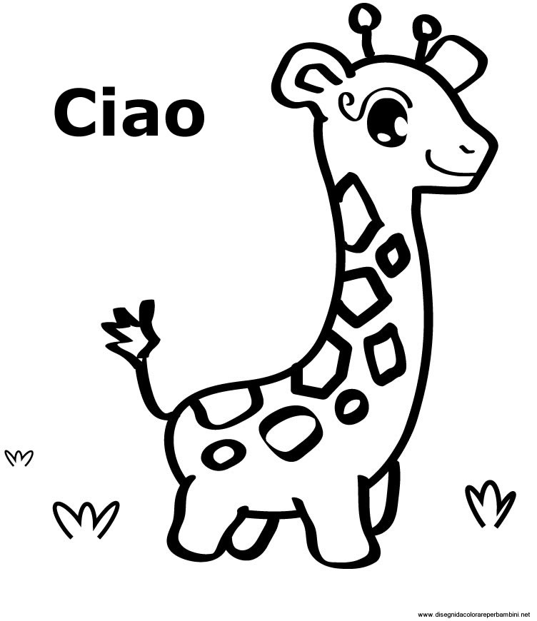 disegni da colorare di giraffa